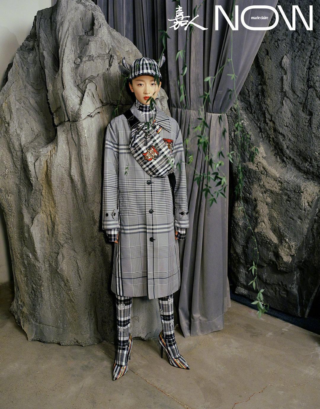 , Zhou Dongyu poses for photo shoot