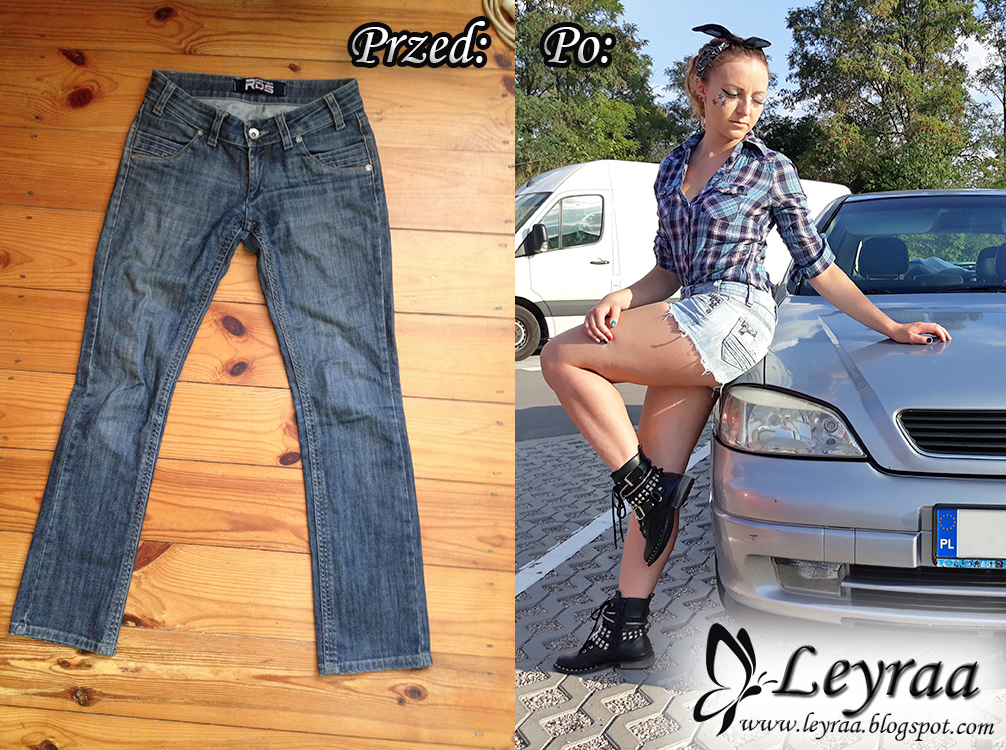 DIY - szorty, kamizelki, kurtki jeansowe... z dodatkiem wybielacza, naszywek, ćwieków, cekinów, barwników do ubrań