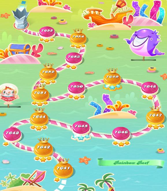 Candy Crush Saga level 7641-7655