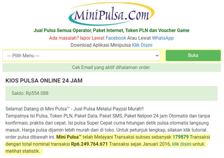 Jasa Convert Paypal MiniPulsa
