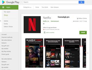 Netflix App On Googlr Platstore