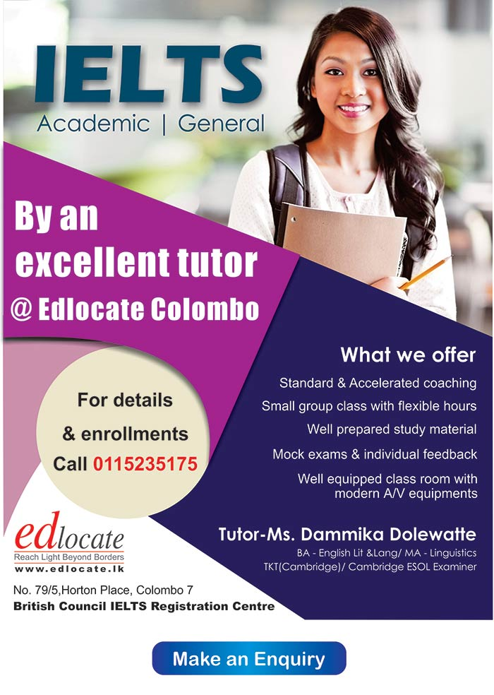 Edlocate is a premier student guidance agency in Sri Lanka and Maldives for selected tertiary institution in Australia,New Zealand,United Kingdom, Malaysia, Singapore and India. Through these quality universities we represent, we offer a wide range of undergraduate & postgraduate courses which leads to skills in demand internationally. We also offer pathways to degree courses through Pre University Foundation Programs & Diplomas with excellent articulation to corresponding degrees. Specialty courses in hospitality trade with paid industry placements too are offered.