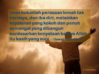 Iman Bukanlah Perasaan