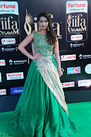 Manjusha in Beautiful Sleeveless Green Anarkali dress at IIFA Utsavam Awards 19.JPG