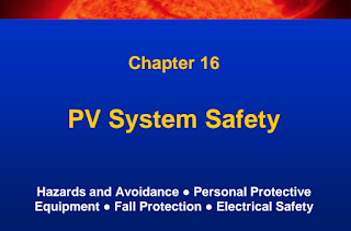 Learn Solar PV Systems:16-PV System Safety