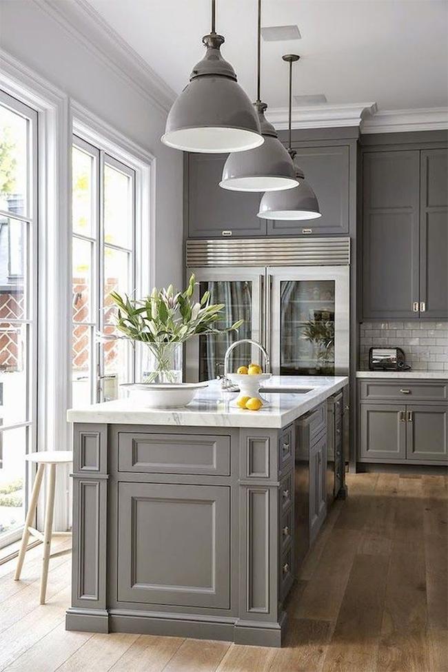 9 Gorgeous Gray and White Kitchen Ideas