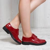 Pantofi dama Begin rosii casual