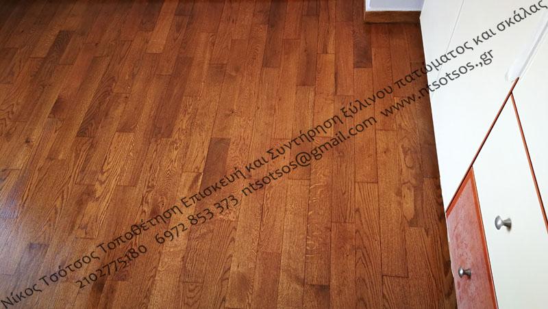 Αλλαγή χρώματος σε δρύινο ξύλινο πάτωμα - Δρύς σκούρο (52)