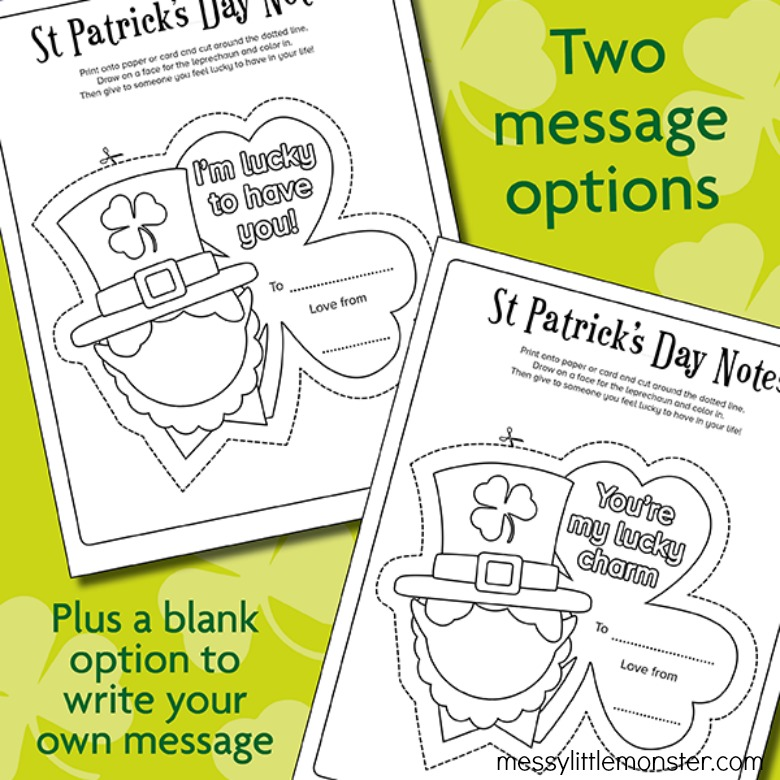 St Patrick's Day printable for kids