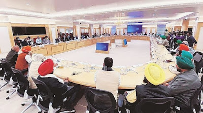 Farmer's union discussions with centre