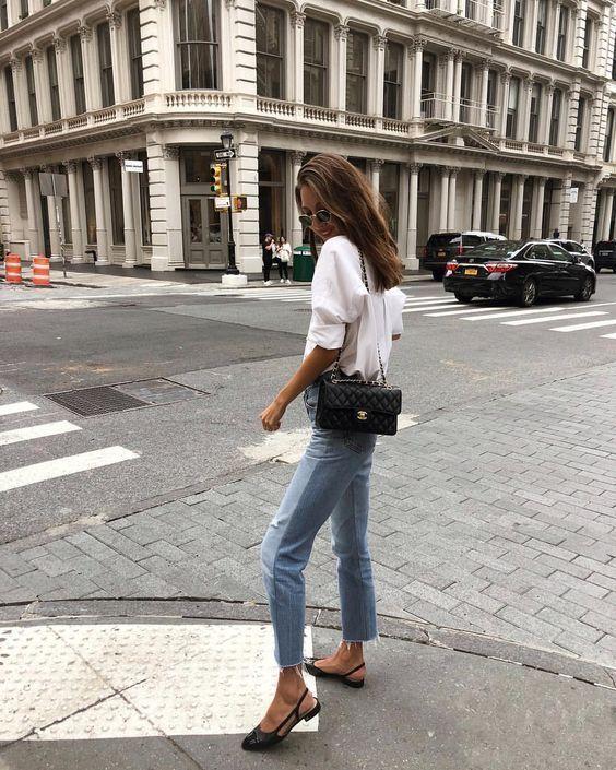 Look com calça jeans reta