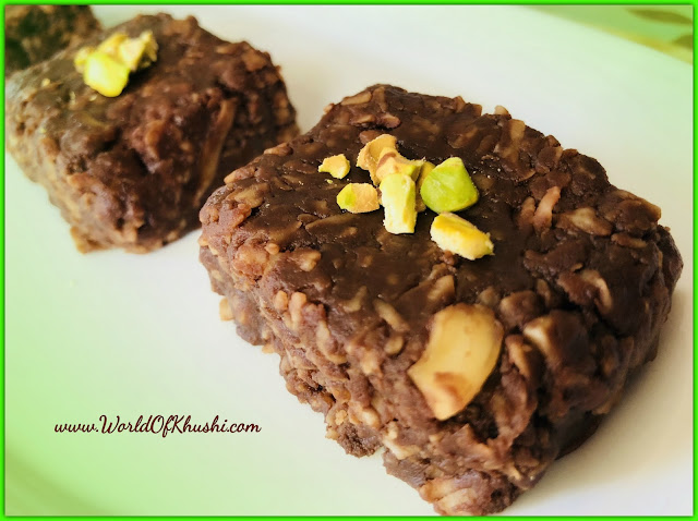 KhushiWorld_ChocolateKalakandRecipe
