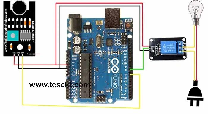Clap switch using Arduino 220v