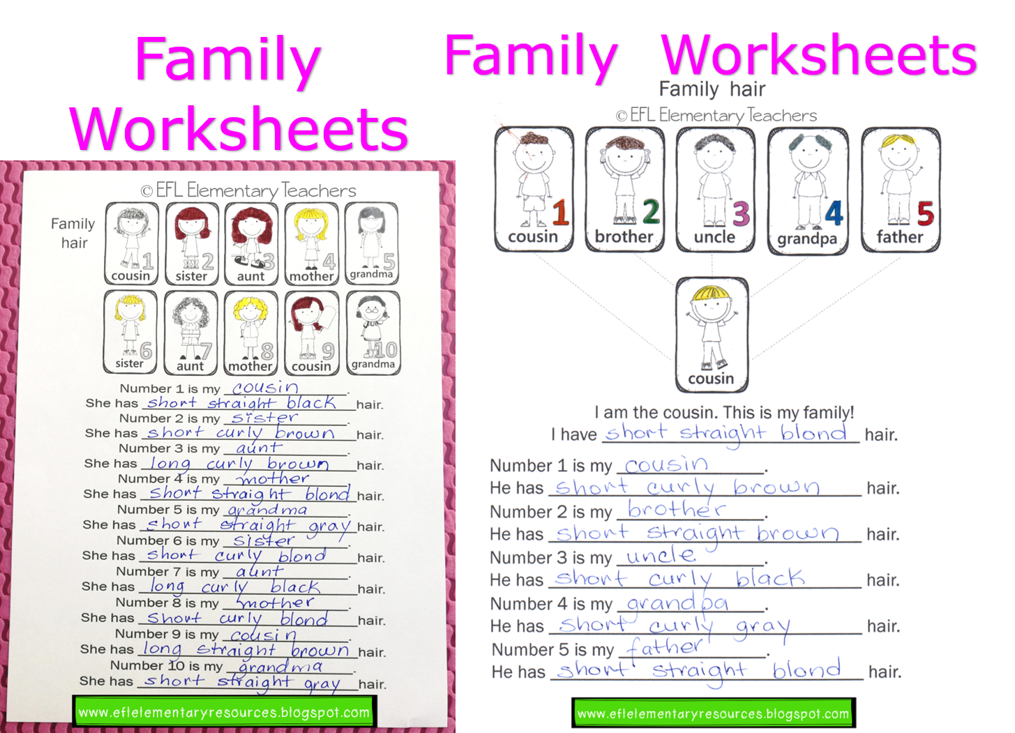 Efl Elementary Teachers Family Adjectives And Body Parts