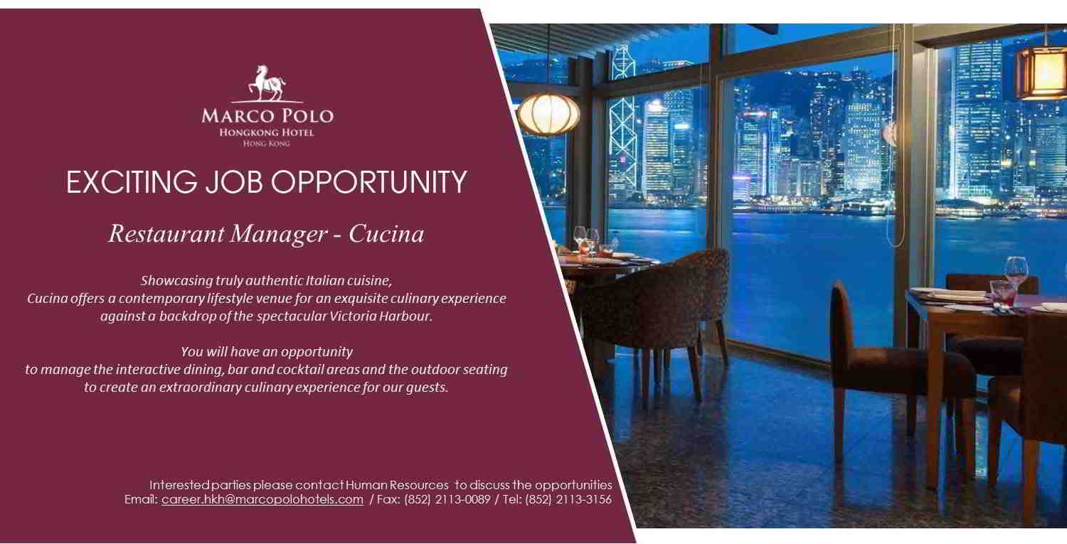 We Create An Extraordinary Culinary Experience For Our Guests Interested Parties Please Send Your Resume To Career Hkh Marcopolohotels