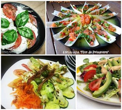 Recetas de ensaladas variadas y saludables