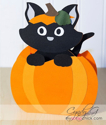 A black cat inside of a pumpkin.