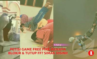Petisi Game Free Fire, Kenapa Blokir & Tutup FF? Simak Disini!