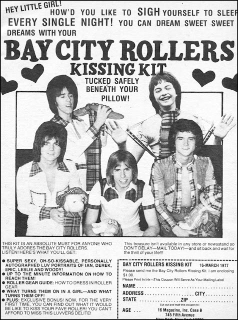 Teen magazine ad -- Bay City Rollers