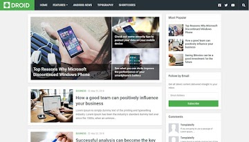 [Free Download] Droid Blogger Template - Android Template