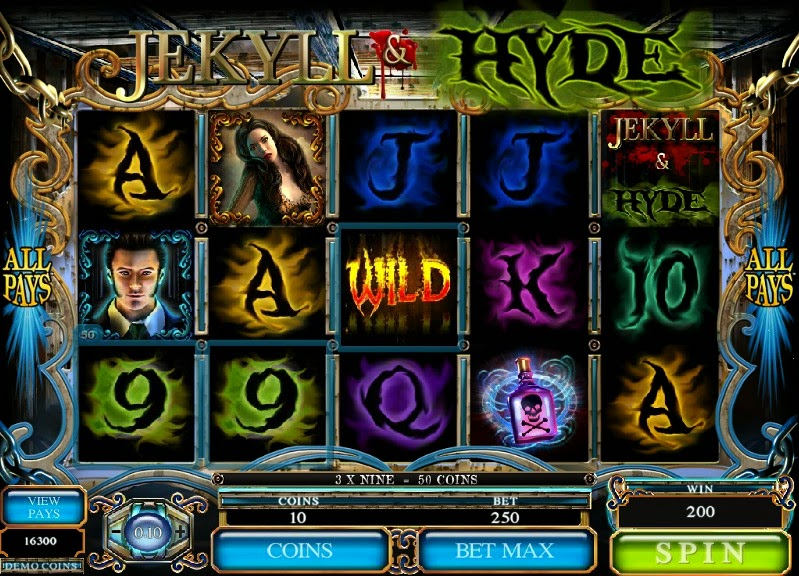 Jekyll and Hyde Video Slot Screen