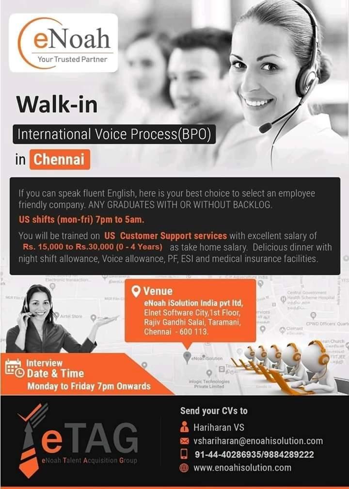 walkin for freshers  international voice process bpo