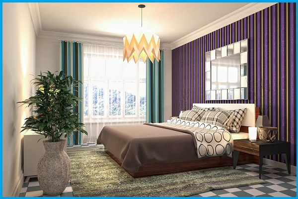 romantic wall painting designs for bedroom