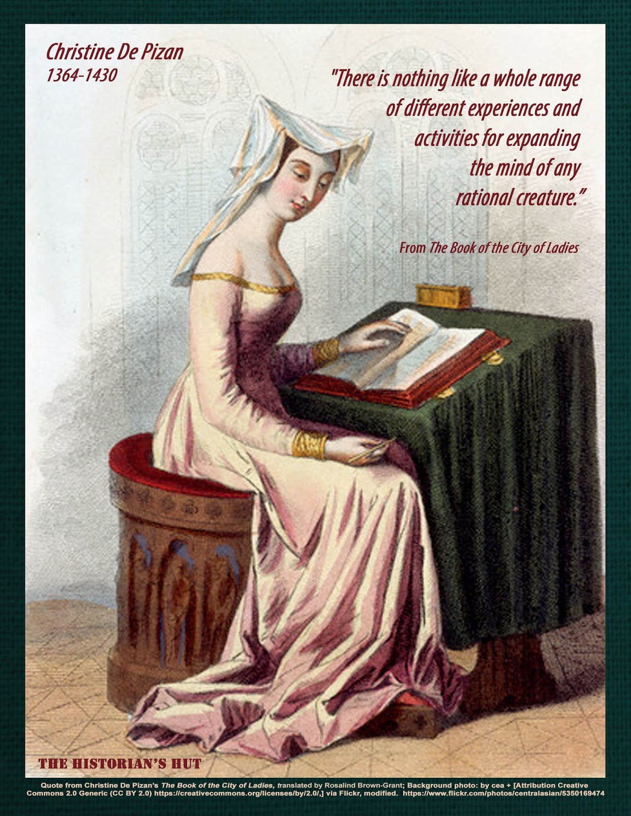 christine de pizan Focusing on the lives and works of three women in particular--15th-century french poet christine de pizan, 19th-century american activist elizabeth cady stanton.