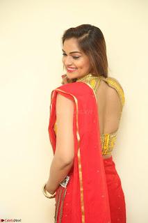 Actress Ashwini in Golden choli Red saree Spicy Pics ~  108.JPG