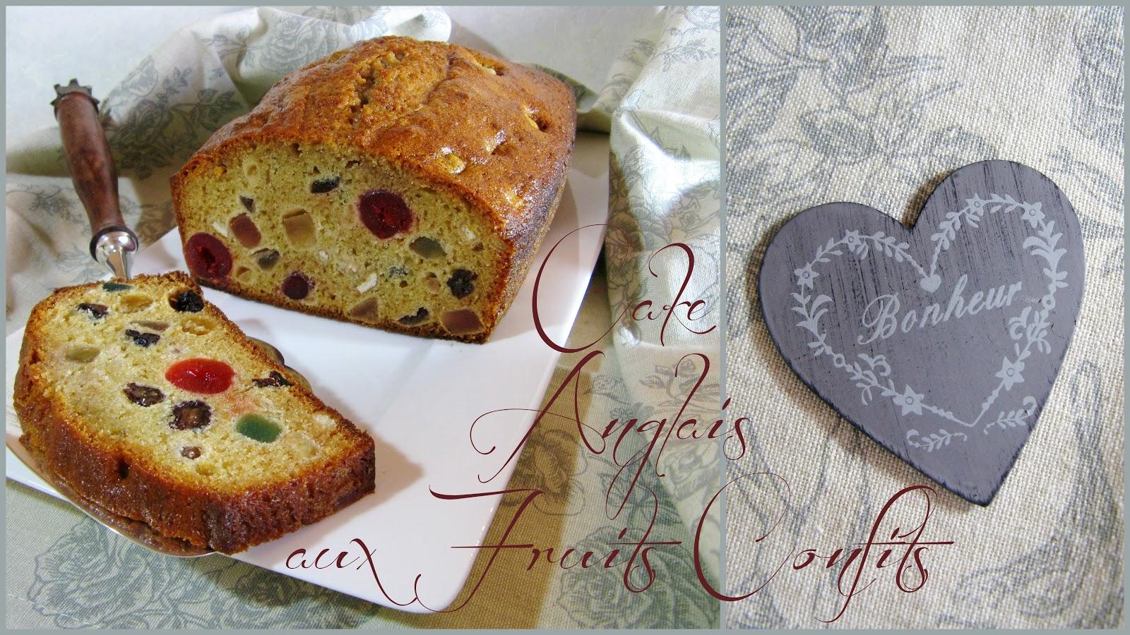 Cake Anglais Aux Fruits Confits Moelleux