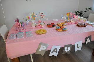 mesa fiesta unicornio