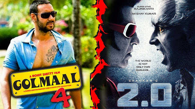 Golmaal 4  Vs  2.0 : Mega Cine Clash This Diwali