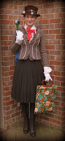 Mary Poppins Outfit plus Parrot Umbrella Tutorial from Cassie Stephens
