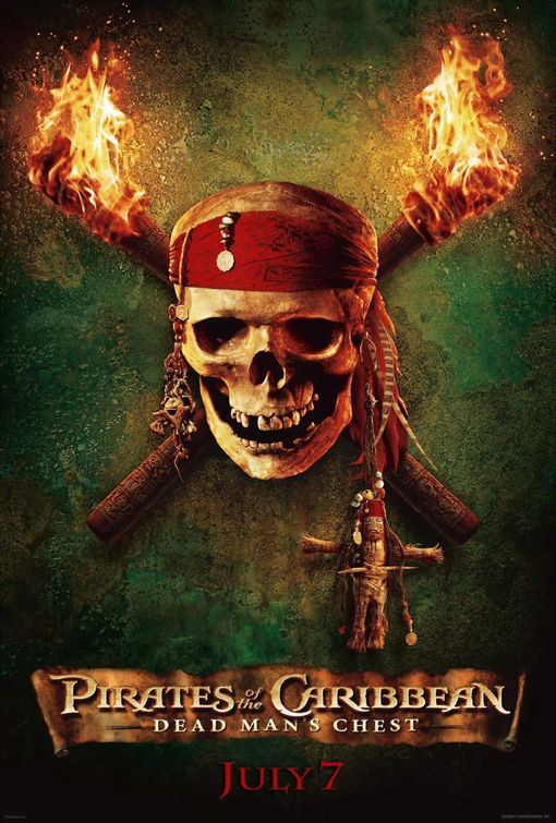 Pirates Caribbean: Dean Mans Chest poster