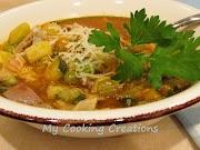 Зеленчукова супа със шкембе по брешански * Trippa Verticale alla Bresciana