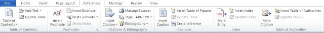 Mengenal Fungsi Menu References Pada Microsoft Word