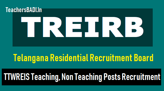 telangana residential recruitment board principal,dl,pd,librarian,staff nurse,jr assistant posts recruitment in tmwreis instituitions,treirb recruitment,treirb dls recruitment,treirb principals recruitment,treirb pds recruitment,treirb staff nurse recruitment,treirb librarian recruitment