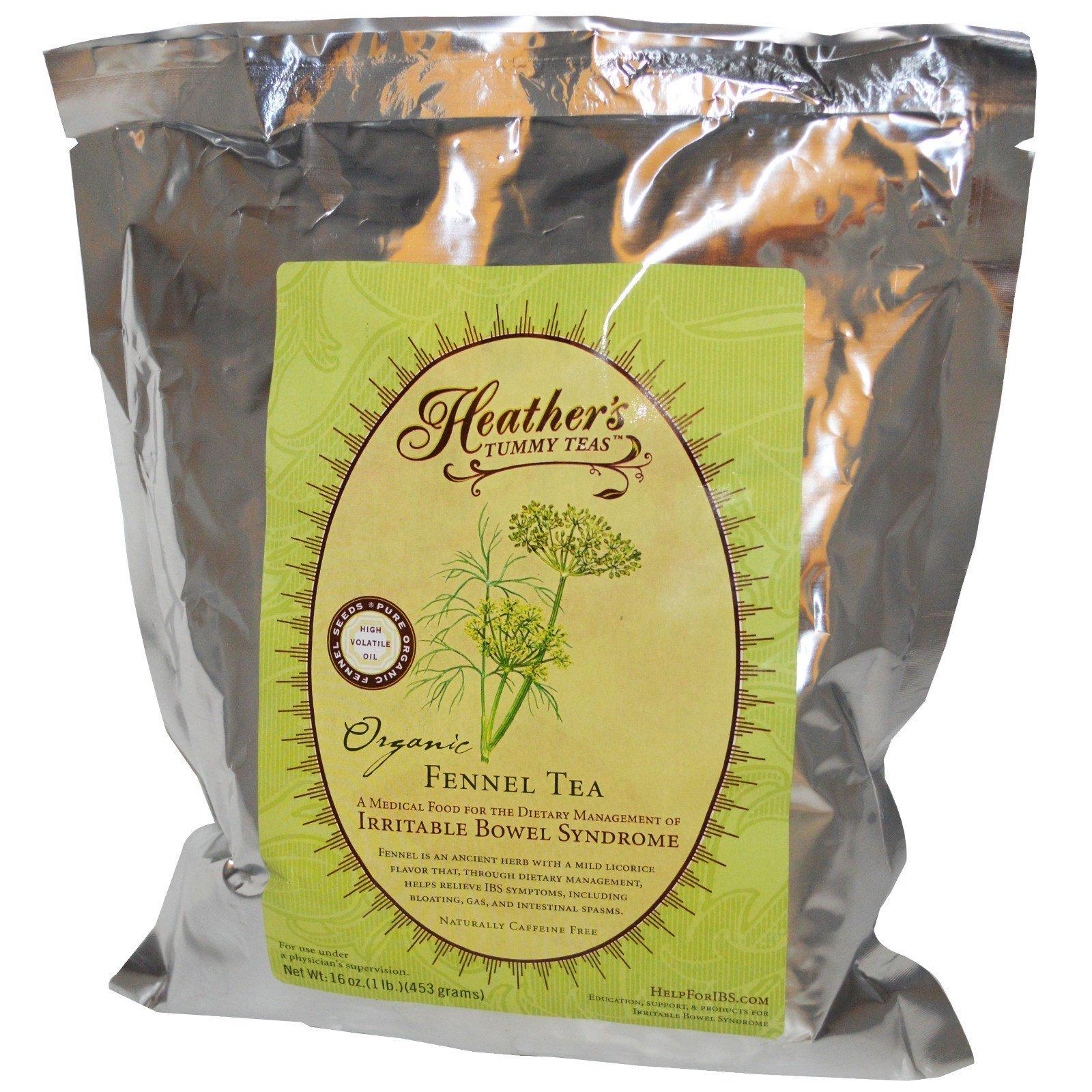 Heather's Tummy Care, Tummy Teas, органический фенхелевый чай без кофеина, 453 г