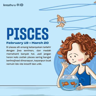 Tips tambah kreatif zodiak PISCES