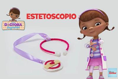 manualidades infantiles estetoscopio de Doctora Juguetes