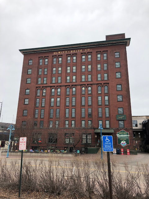 Originally a warehouse and center for industry, the DeWitt Seitz Building now houses shops and eateries in Duluth, Minnesota