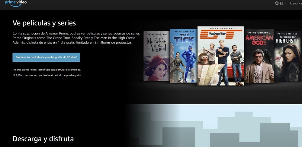 Amazon Prime Video plataforma online para ver buen cine