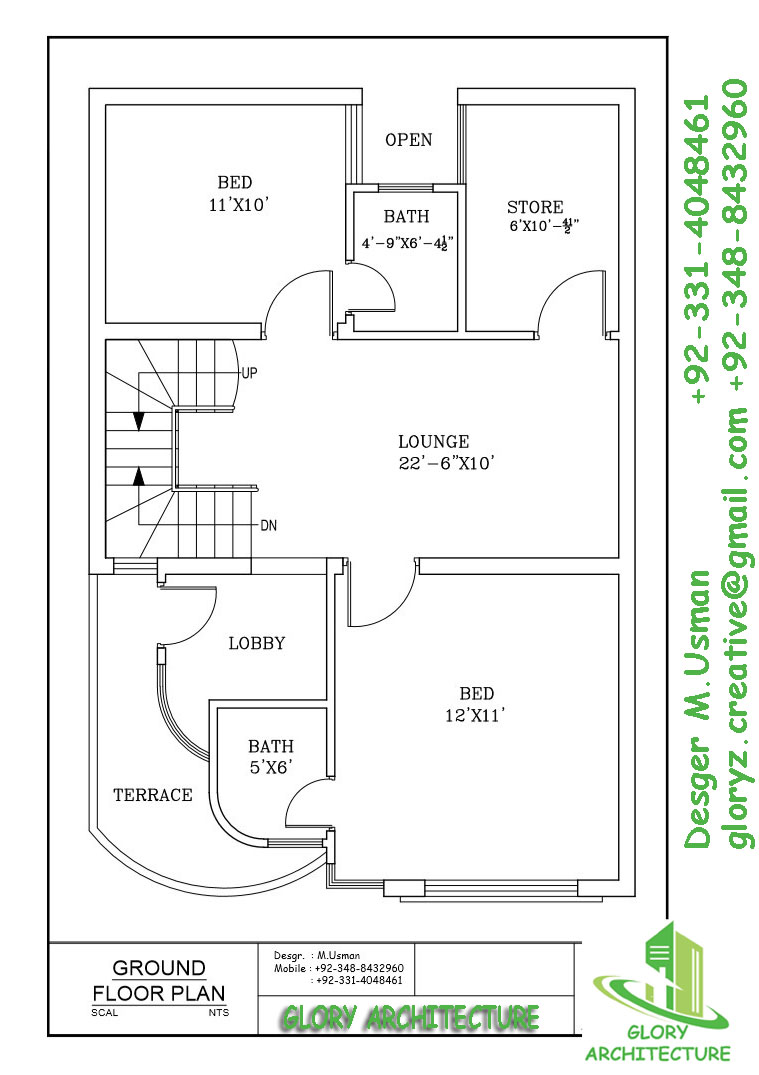 25x30 House Plan Elevation 3d View 3d Elevation House