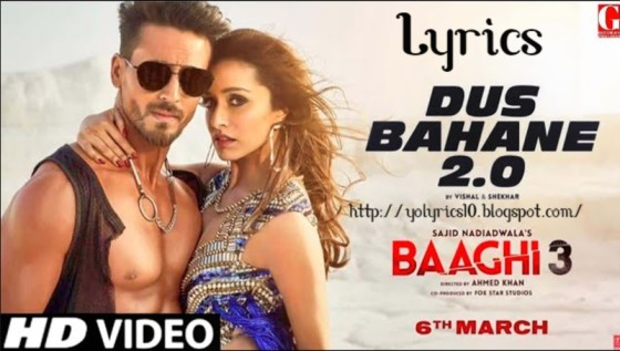 Dus Bahane 2.0 Lyrics - Baaghi 3 | YoLyrics