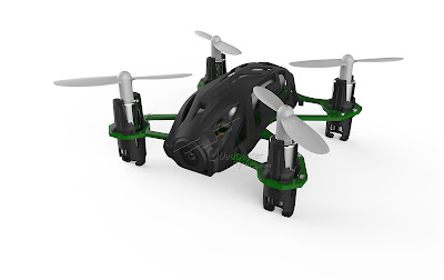Hubsan H111D FPV Quadcopter Black Front View