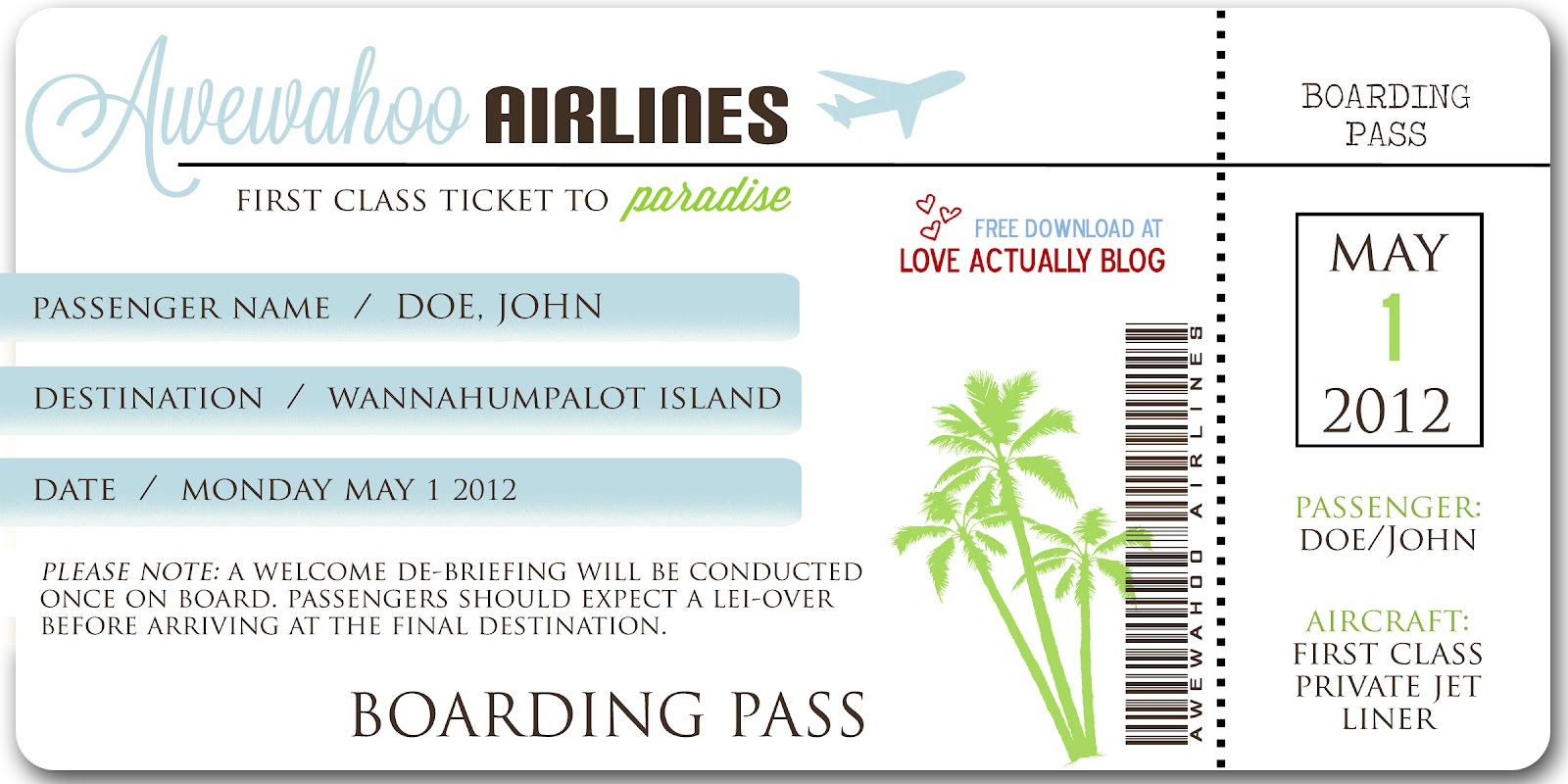 Fake Plane Ticket Template mudphudder personal mudphudder blog – Plane Ticket Template