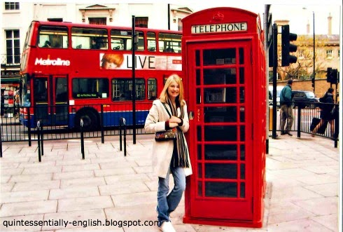 Red Telephone Box and Double Decker Bus in London, England