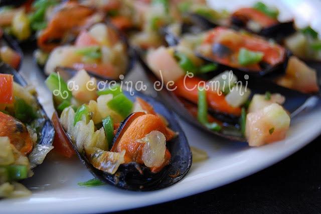Mejillones con picadillo (La cocina de Camilni)