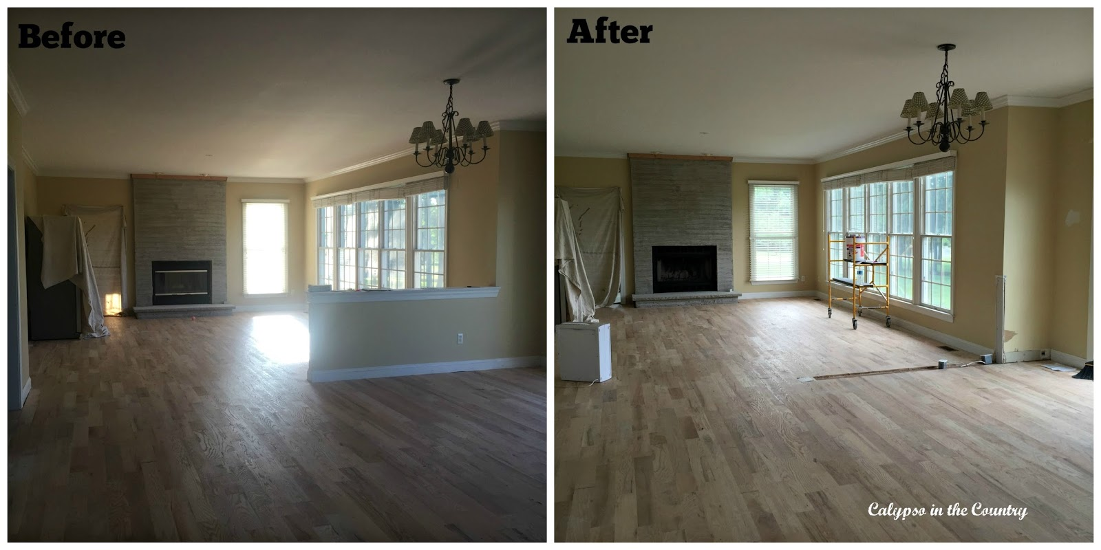 Half Wall - Before and After