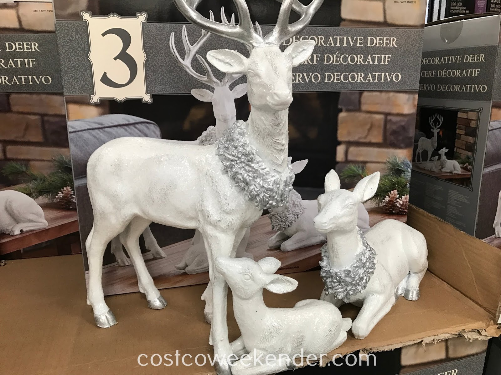 Decorate your home this winter with the Table Top Decorative Deer Family
